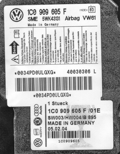 Installing replacement Airbag Control Module - TDIClub Forums